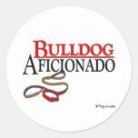 Bulldog Round Stickers