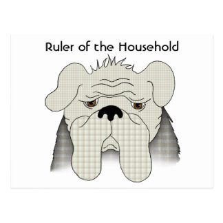 Bulldog Rules the Household Postcard