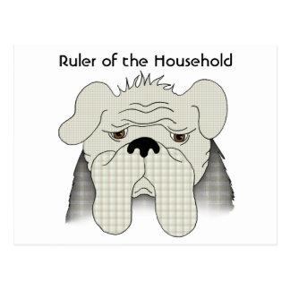 Bulldog Rules the Household Postcard
