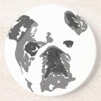 Bulldog Sandstone Coaster