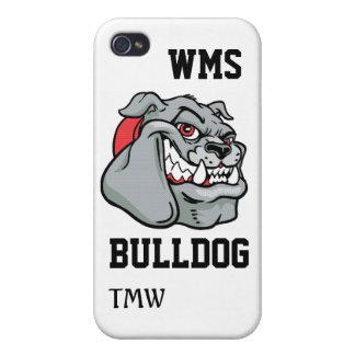 Bulldog School Mascot - SRF Cover For iPhone 4