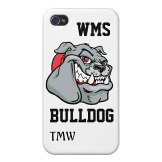 Bulldog School Mascot - SRF iPhone 4 Case