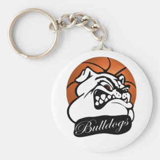 Bulldog School Team Mascot Basketball Keychain