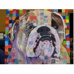 Bulldog Sculpture Photo Cutout