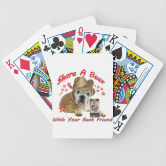 Bulldog Share A Beer products Bicycle Playing Cards
