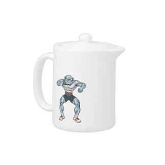 bulldog shotputter teapot