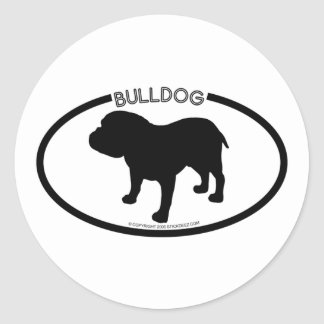 Bulldog Silhouette Black Sticker