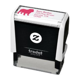 Bulldog Silhouette Return Address Self-inking Stamp