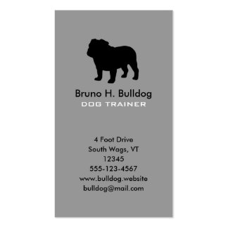 Bulldog Silhouette Vertical Double-Sided Standard Business Cards (Pack Of 100)