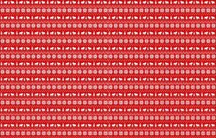 bulldog silhouettes christmas sweater pattern fabric