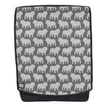 Bulldog Silhouettes Pattern Backpack
