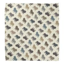 Bulldog Silhouettes Pattern Bandana