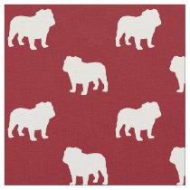 Bulldog Silhouettes Pattern Fabric