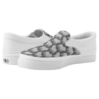 Bulldog Silhouettes Pattern Slip-On Sneakers