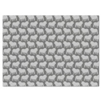 Bulldog Silhouettes Pattern Tissue Paper