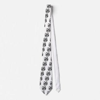 BULLDOG-sketch tribal Neck Tie
