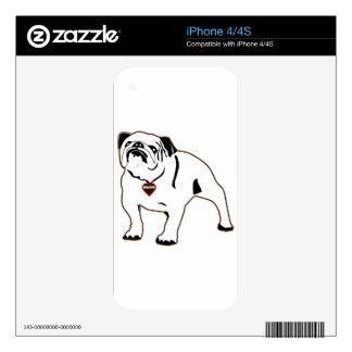 Bulldog Skin For iPhone 4