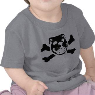 Bulldog Skull for Baby Tee Shirts