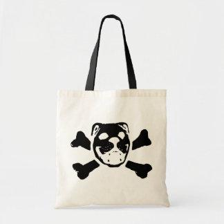 Bulldog Skull Tote Bag