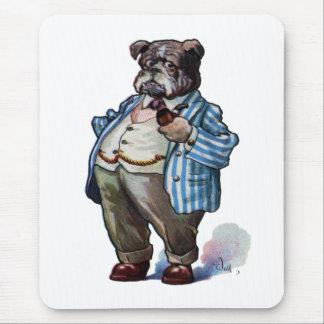 Bulldog Smoking Pipe Mouse Pad
