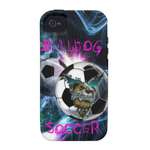 Bulldog Soccer Iphone 4 Case-Mate iPhone 4 Covers