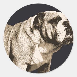 Bulldog Spirit Round Stickers