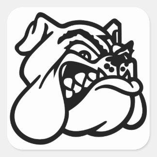 Bulldog Square Sticker