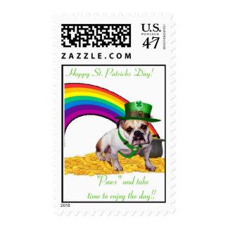 Bulldog St. Patricks Day Card Postage