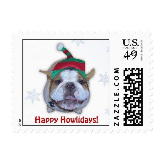 Bulldog Stamp Elf, Happy Howlidays!