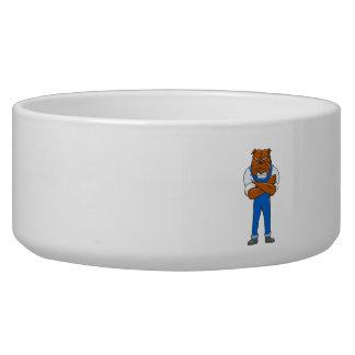 Bulldog Standing Arms Crossed Cartoon Bowl