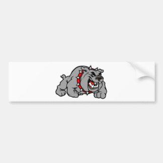 Bulldog Style Car Bumper Sticker
