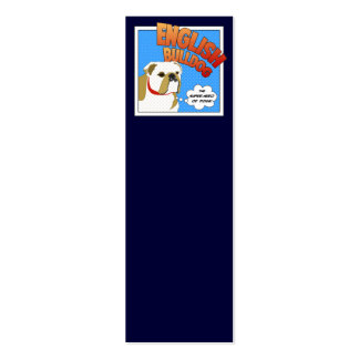Bulldog Super Hero Double-Sided Mini Business Cards (Pack Of 20)