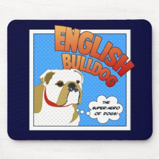 Bulldog Super Hero Mouse Pad