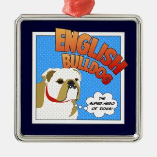 Bulldog Super Hero Ornament