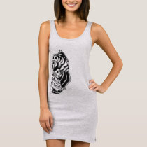 BULLDOG-Tank Dress - Tribal Sketch Large