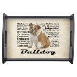 Bulldog Traits Serving Tray
