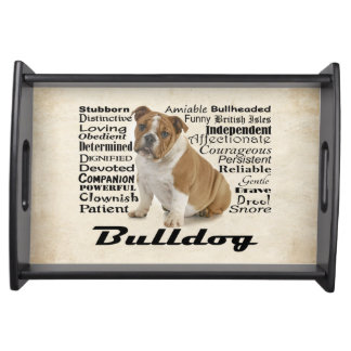 Bulldog Traits Serving Tray