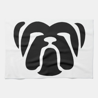 bulldog tribal.png towel