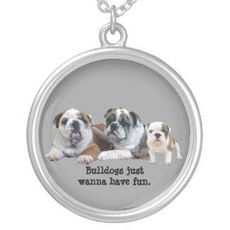 Bulldog Trio Necklace