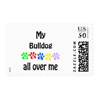 Bulldog Walks Design Postage