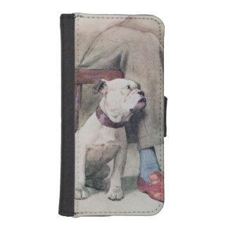 Bulldog Wallet Phone Case For iPhone SE/5/5s