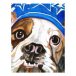 Bulldog Watercolor Dog Art Painting Personalized Letterhead