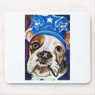 Bulldog Watercolor Dog Art Painting Mouse Pad