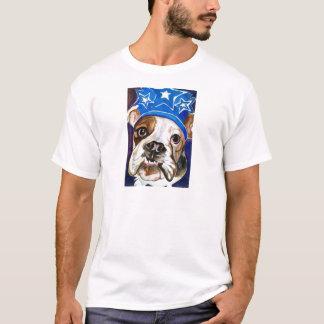 Bulldog Watercolor Dog Art Painting T-Shirt