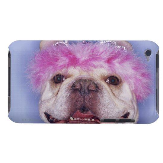 Bulldog wearing tiara barely there iPod cover