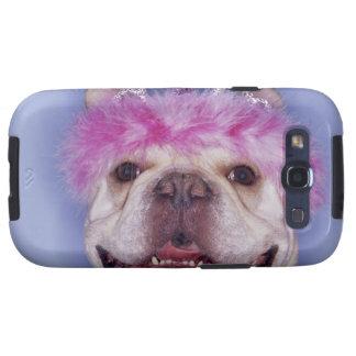 Bulldog wearing tiara samsung galaxy s3 cases