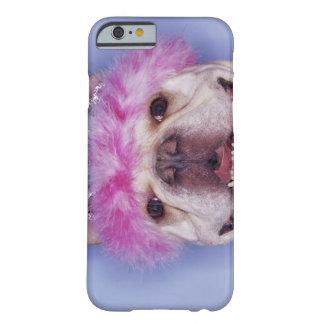 Bulldog wearing tiara barely there iPhone 6 case