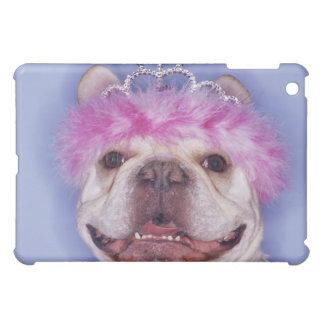 Bulldog wearing tiara iPad mini cases