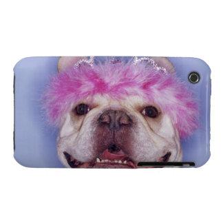 Bulldog wearing tiara iPhone 3 Case-Mate case