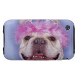 Bulldog wearing tiara tough iPhone 3 case